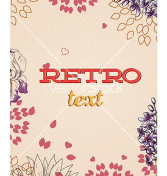 Free retro floral background vector - Free vector #225019