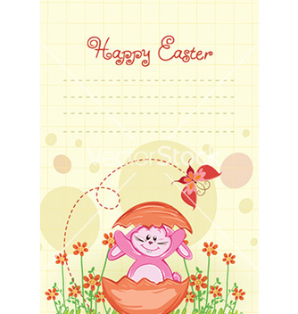 Free bunny with flowers vector - Free vector #225249