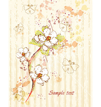 Free background with floral and butterflies vector - Kostenloses vector #225259