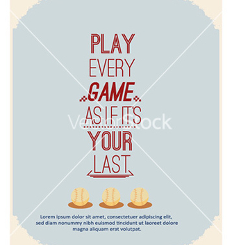 Free with sport elements and typography vector - vector gratuit #225399