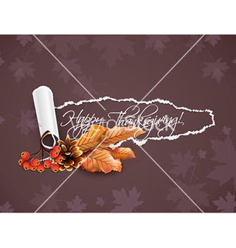 Free happy thanksgiving day with torn paper vector - Free vector #225549