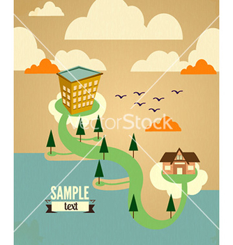 Free city stylized vector - Free vector #225689