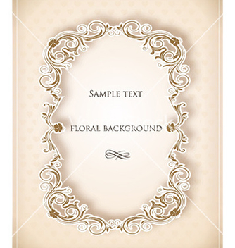 Free floral frame vector - Kostenloses vector #225889