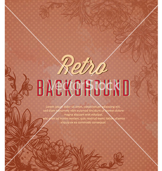 Free retro floral background vector - Free vector #226009