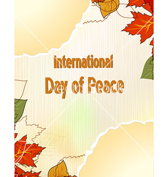 Free international day of peace vector - бесплатный vector #226039