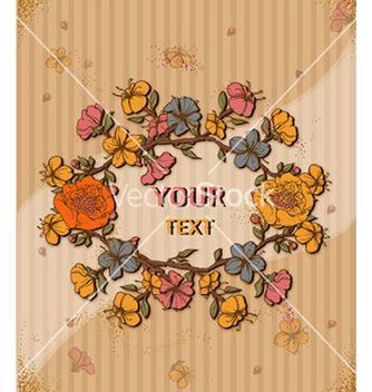 Free retro floral background vector - vector gratuit #226199