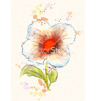 Free watercolor floral background vector - бесплатный vector #227089