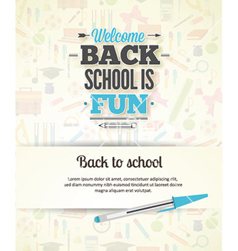 Free back to school vector - vector gratuit #227119