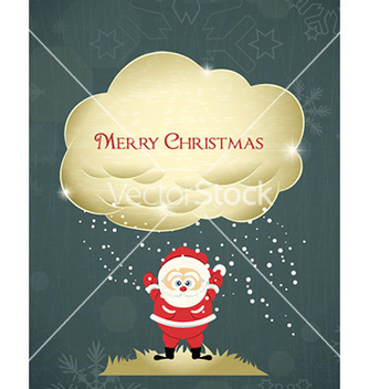 Free christmas with santa vector - vector gratuit #227279
