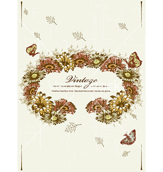 Free butterflies with floral vector - Free vector #227329