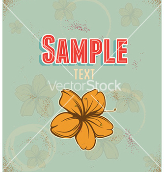 Free retro floral background vector - бесплатный vector #227529