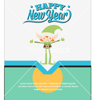 Free happy new year vector - vector #227689 gratis