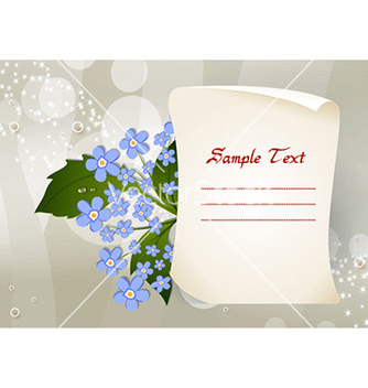 Free paper with floral vector - Kostenloses vector #227829
