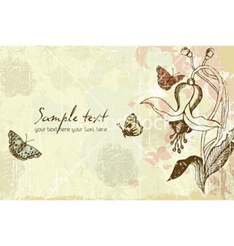 Free vintage floral background vector - Free vector #227839