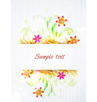 Free colorful floral frame vector - vector #227859 gratis