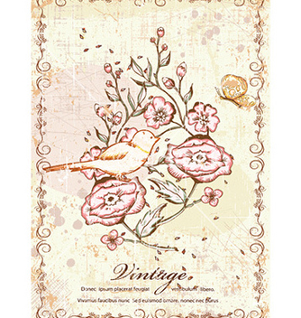 Free vintage background with floral vector - Free vector #228039