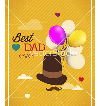 Free fathers day vector - Free vector #228059