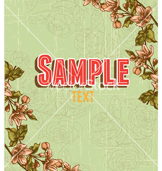 Free retro floral background vector - vector gratuit #228069