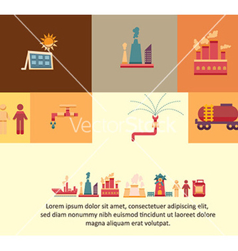Free with industrial elements vector - Free vector #228139
