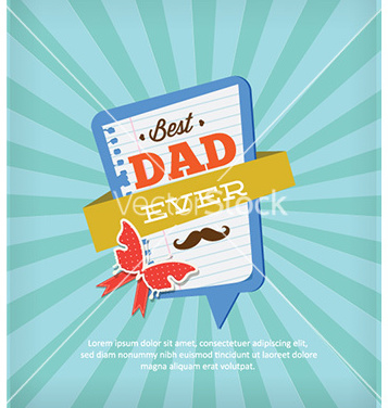 Free fathers day vector - Free vector #228309