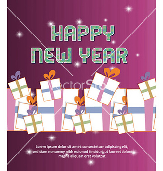 Free happy new year vector - vector #228329 gratis