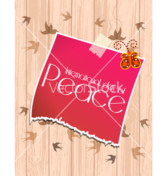 Free international day of peace with sticker vector - бесплатный vector #228499