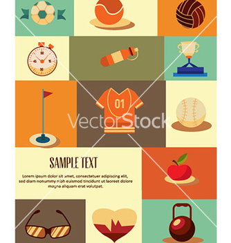 Free with sport elements vector - Kostenloses vector #228619