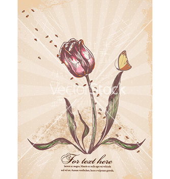 Free vintage floral background vector - Free vector #228689
