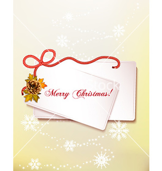 Free christmas with sticker vector - vector gratuit #228699
