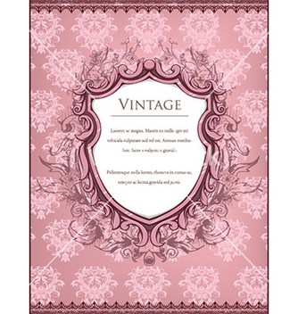 Free vintage frame with floral vector - Free vector #228729