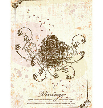 Free rose with grunge vector - vector gratuit #228759