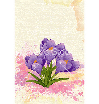 Free watercolor floral background vector - Free vector #228839