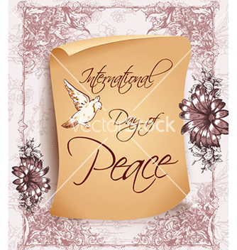 Free international day of peace with old paper vector - Free vector #229079