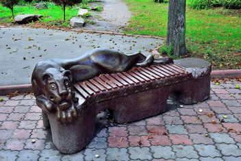Sculptural bench - image gratuit #229389