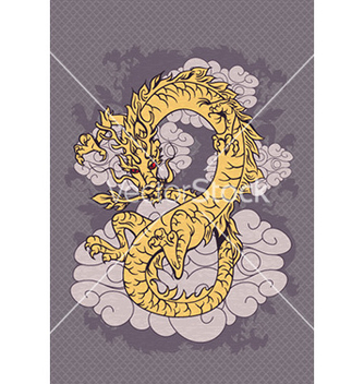 Free abstract dragon vector - Free vector #229569