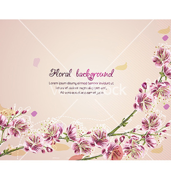 Free floral background vector - Free vector #229619