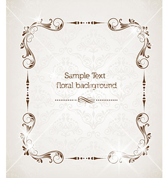 Free floral frame vector - Free vector #229729