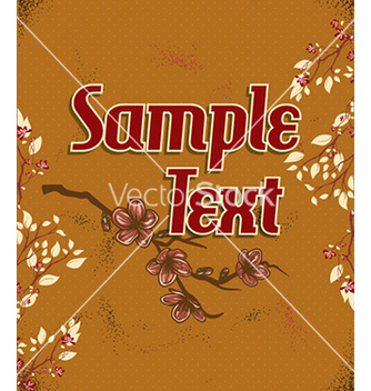 Free retro floral background vector - vector gratuit #229859