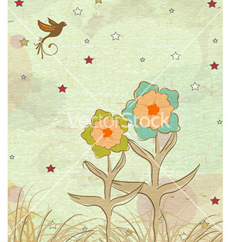 Free grunge floral background vector - vector gratuit #230079