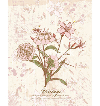 Free vintage background with floral vector - Free vector #230109