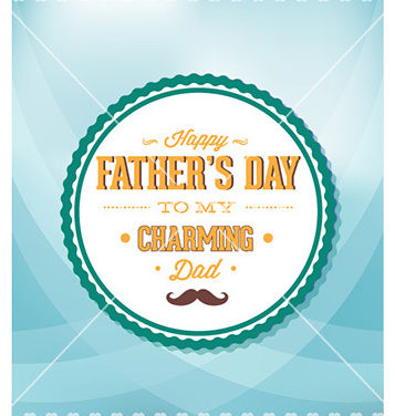 Free fathers day vector - Free vector #230469