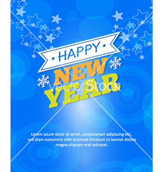 Free happy new year vector - vector #230629 gratis