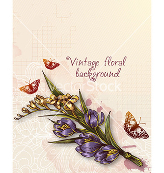 Free floral background vector - Free vector #230749
