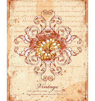 Free vintage background with floral vector - Free vector #230919
