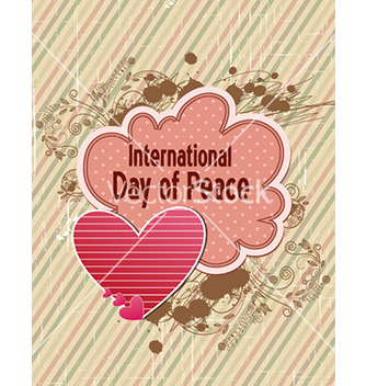 Free international day of peace with doodle frame vector - бесплатный vector #231039
