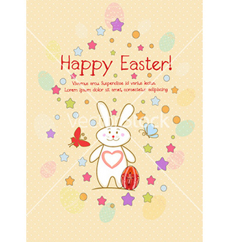 Free bunny with egg vector - Kostenloses vector #231249