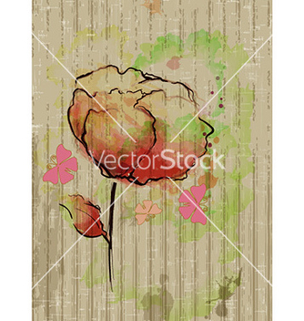 Free watercolor floral background vector - Free vector #231259