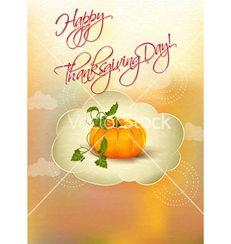 Free happy thanksgiving day with pumpkin vector - Free vector #231379