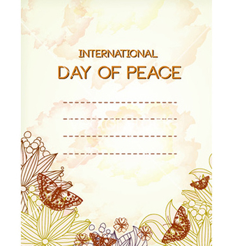 Free international day of peace vector - Kostenloses vector #231469