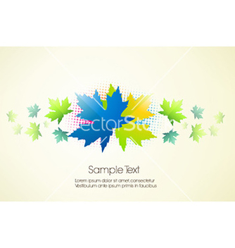 Free abstract leaves vector - vector gratuit #231719